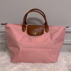 🌸Longchamp top handle bag medium #pink